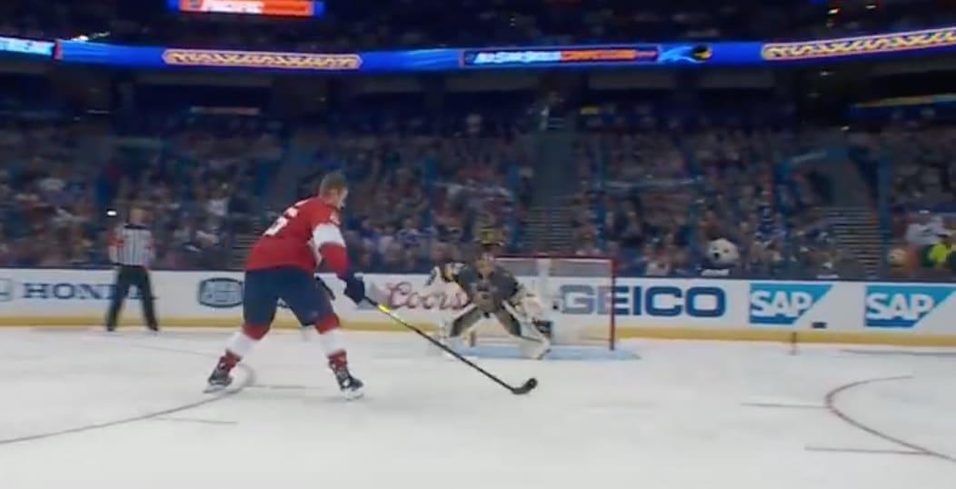 Video: Aleksander Barkov veivasi älyttömän maalin NHL:n tähdistötapahtuman rankkarikisassa