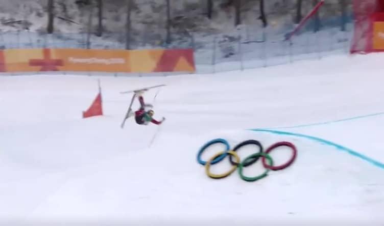 Video: Naisten skicrossissa nähtiin todella raju kaatuminen