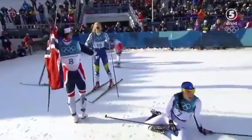 Video: Stina Nilsson ei tiennyt maalissa hiihtäneensä pronssille