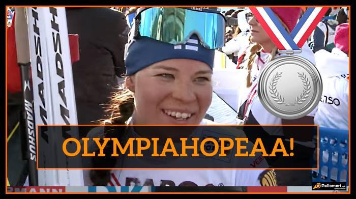 Mahtavaa! – Krista Pärmäkoski nappasi olympiahopeaa naisten 30 kilometriltä
