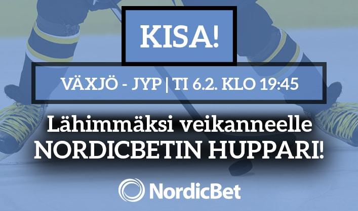 Växjö – JYP -KISA! – lähimmäksi veikanneelle NordicBetin huppari