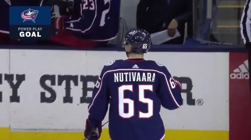 Video: Markus Nutivaara tinttasi voittomaalin – valittiin myös ottelun tähdistöön