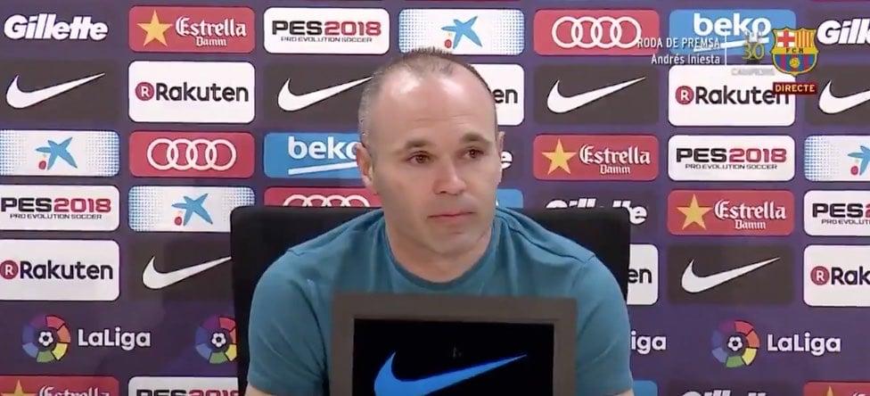 legenda Andres Iniesta Barcelona La Liga / Pallomeri.net