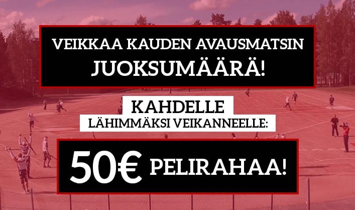 Superpesis-KISA! - Veikkaa juoksumäärä & nappaa 50€ pelirahaa
