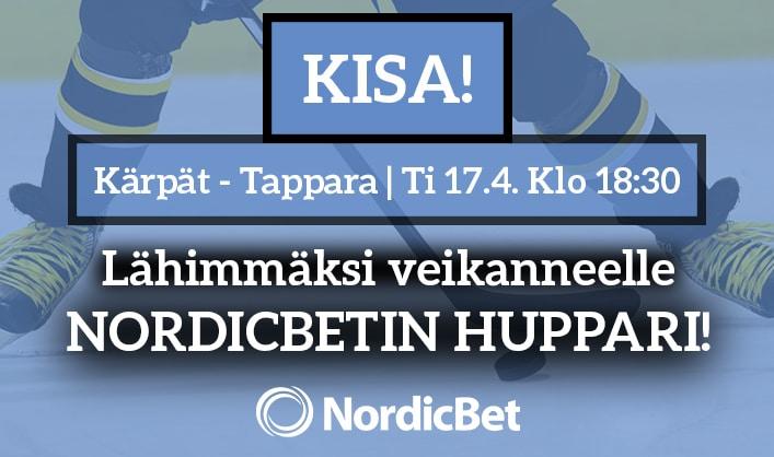 Kärpät – Tappara -KISA! – lähimmäksi veikanneelle NordicBetin huppari
