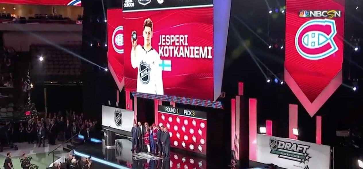 Jesperi Kotkaniemi NHL draft / Pallomeri.net