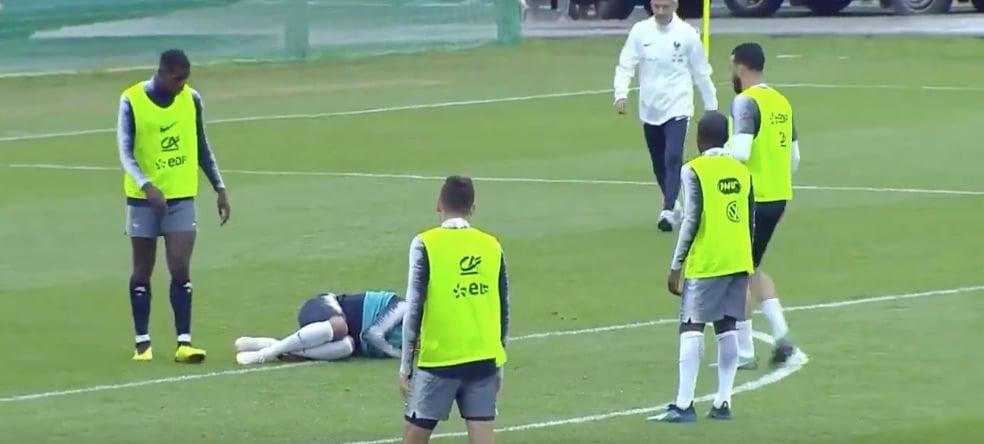 Video: Adil Rami jyräsi Kylian Mbappen harjoituksissa – supertähti tuskaisena ulos treeneistä