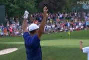 Video: Tiger Woods upotti 87-metrisen eaglen PGA Tourilla