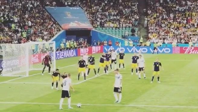 Toni Kroosin vaparimaali katsomosta kuvattuna - pallomeri.net