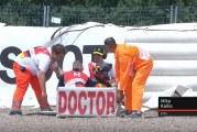 Video: Mika Kallio kaatui rajusti Saksassa – kuljetettiin sairaalaan