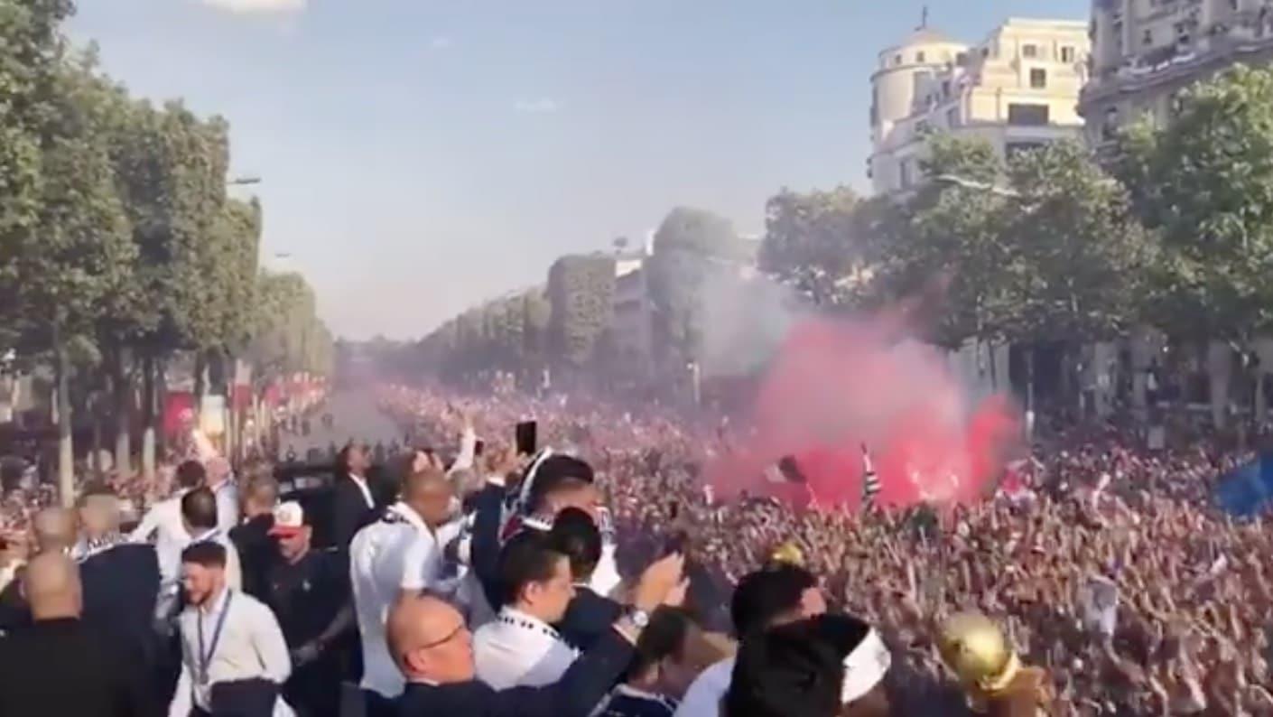 Ranskan voittoparaati MM-kisat / Pallomeri.net