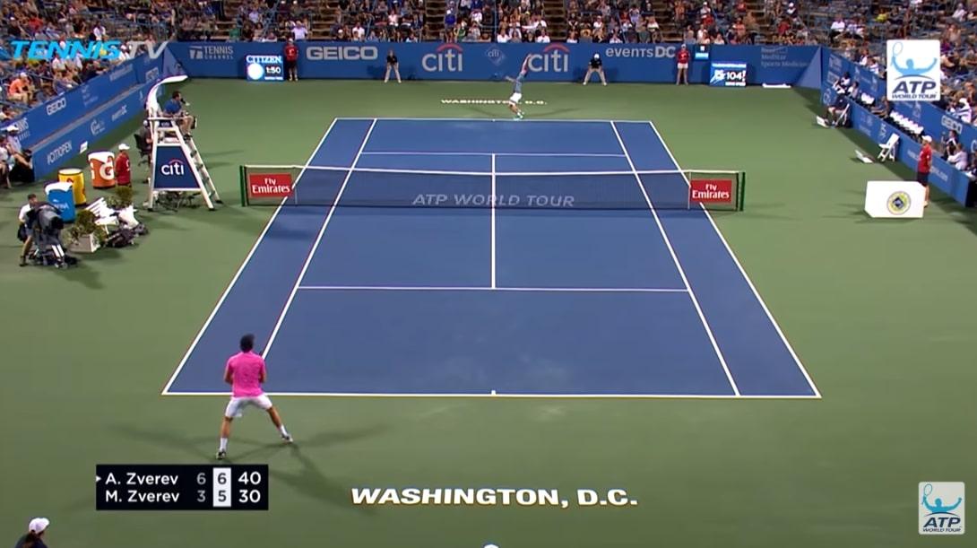 Video: Zverevin veljekset kohtasivat ensi kertaa ATP-tasolla – tarjoilivat huikeaa peliä