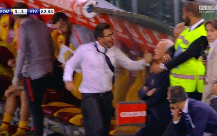 Video: AS Roman valmentaja juhli villisti maalia - mursi kätensä