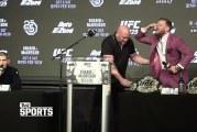 Video: Conor McGregor löi homman leikiksi – veti viskiä pressitilaisuudessa