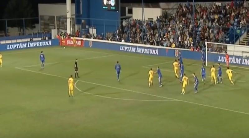 Video: Romanian Ianis Hagi laukoi maalin suoraan kulmapotkusta U21 EM-karsinnoissa