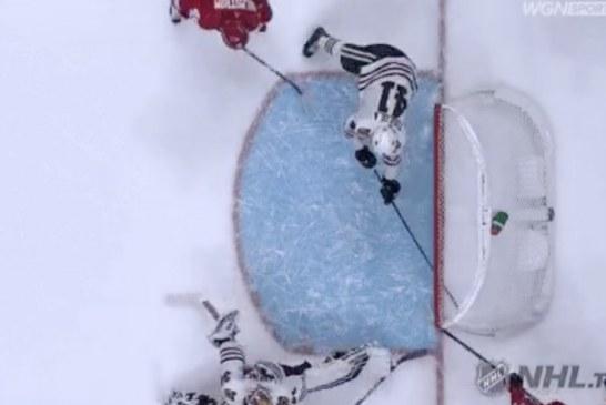 Video: Chicago-pakki Joni Tuulola pelasti varman maalin NHL:ssä