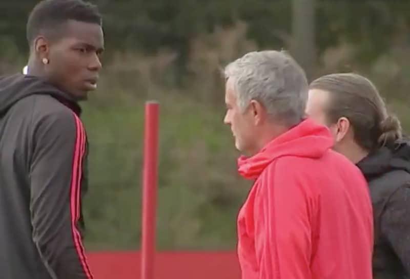 Video: Jose Mourinholla ja Paul Pogballa hyytävä kohtaaminen treeneissä