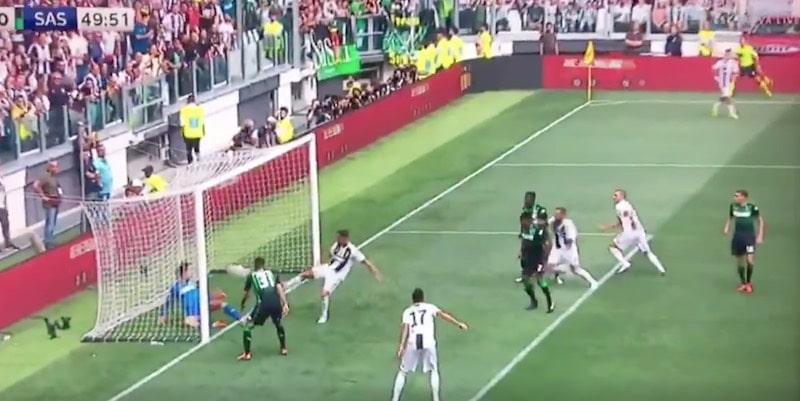 Video: Sassuolo-pelaajalta karmea kämmi – Cristiano Ronaldo onnistui vihdoin