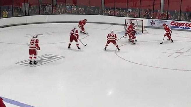 Video: Red Wingsin pelurit kyhäsivät fantastisen maalin