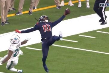 Video: Houston-peluri nappasi täysin uskomattoman kopin NFL:ssä