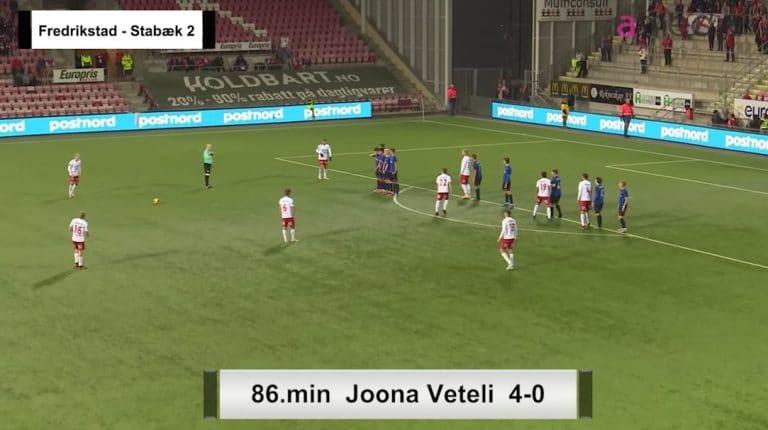 Video: Joona Veteli tykitti mahtavan vaparimaalin Norjan 2. divarissa