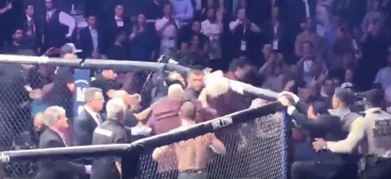 Uusi video paljastaa – Conor McGregor täräytti Khabibin valmentajaa turpaan