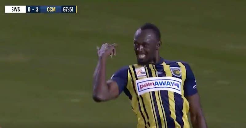Video: Ketsuppipullo aukesi – Usain Bolt viimeisteli kaksi maalia