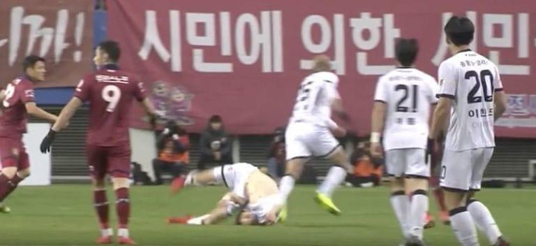 Video: Etelä-Koreassa nähtiin järkyttävä loukkaantuminen – pelaaja mursi niskansa