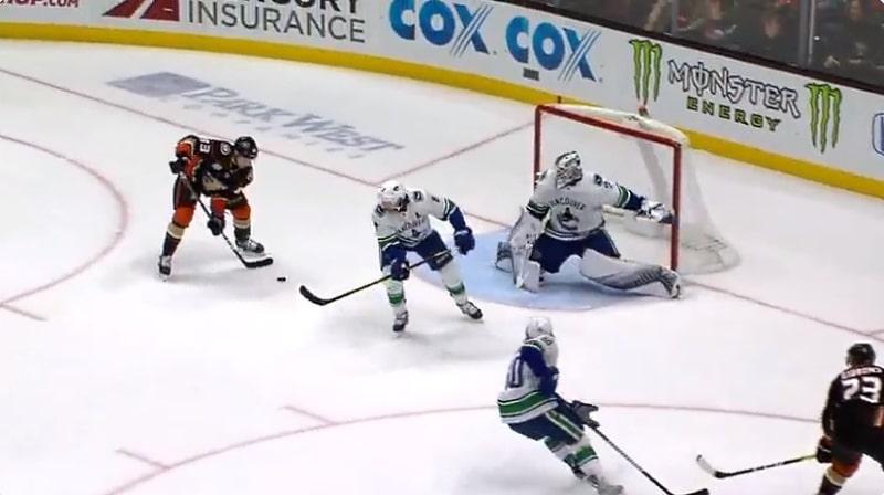 Video: Kalle Kossila viimeisteli Anaheim Ducksin voittomaalin