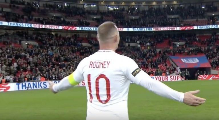 Video: Wayne Rooney päätti maajoukkueuransa – sai koskettavan vastaanoton