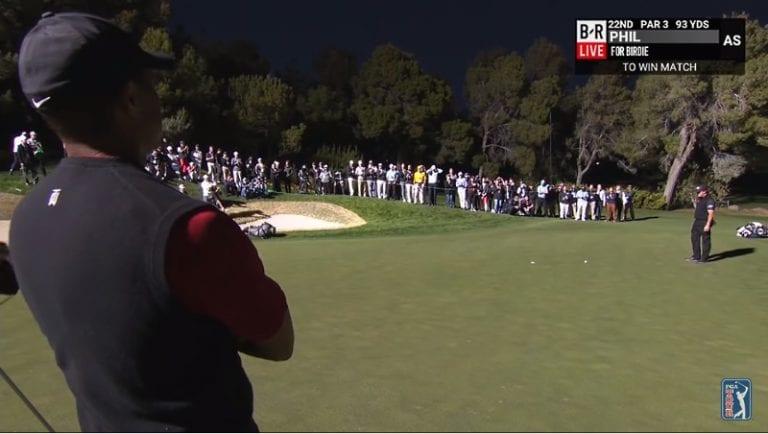 Video: Phil Mickelson kaatoi Tiger Woodsin neljännellä uusintaväylällä