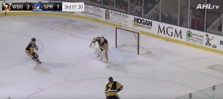 Video: Pens-vahti Tristan Jarry iski maalin AHL:ssä