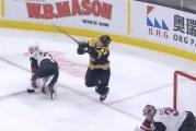 Video: NHL:ssä nähtiin ikävä isku – David Backes sai luistimesta kasvoihin