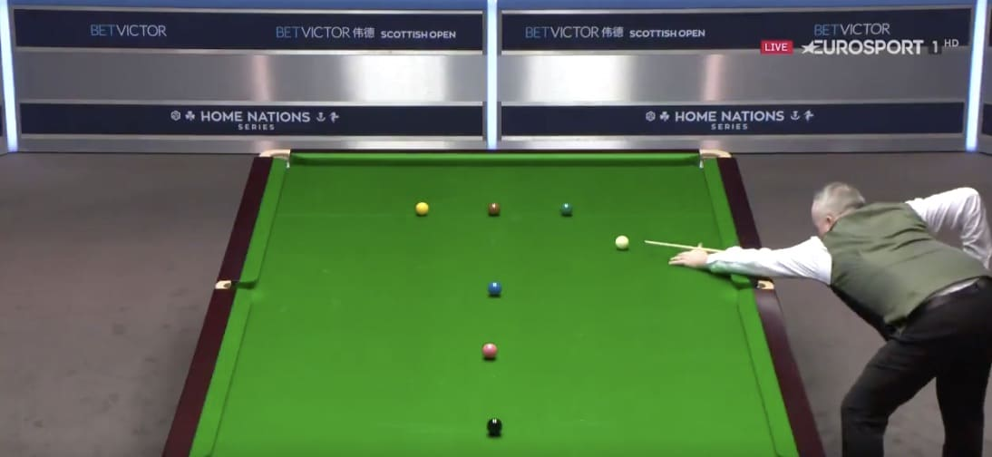 Video: John Higgins teki huikeasti maksimibreikin Scottish Openissa