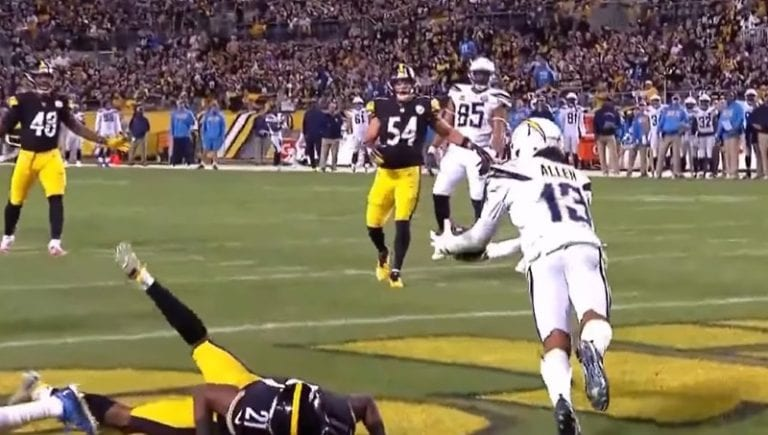 Video: NFL:ssä nähtiin älyttömän koominen touchdown