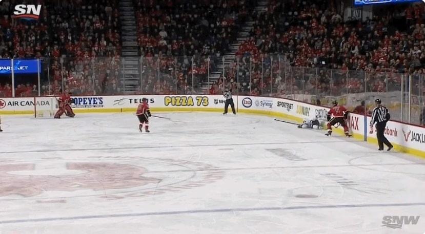 Video: Mikko Koivu loukkaantui Mark Giordanon jalkakampista