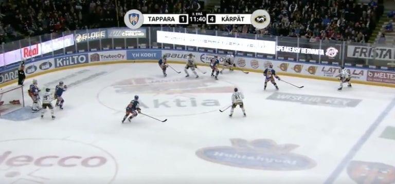 Video: Tappara-puolustajalta kunnon viikate – Liiga asetti väliaikaiseen pelikieltoon
