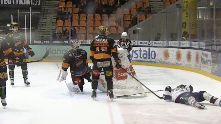 Video: Alexander Bonsaksen sai neljän ottelun pelikiellon – huitaisi HIFK-tähteä päähän