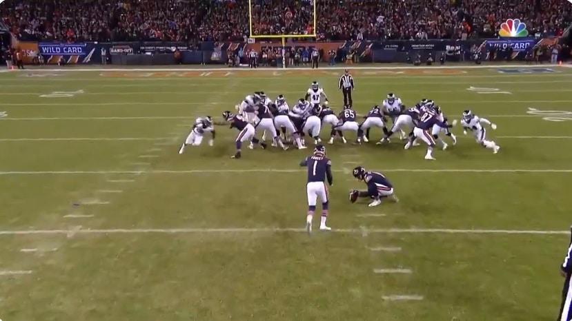 Video: NFL:n pudotuspeleissä täysin uskomatonta draamaa - viime sekuntien potkumaali kahden tolpan kautta ulos