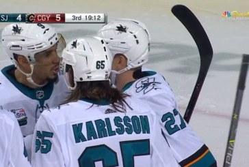 Video: Erik Karlsson jakeli huimalla tavalla – Joonas Donskoi siirsi limpun häkkiin
