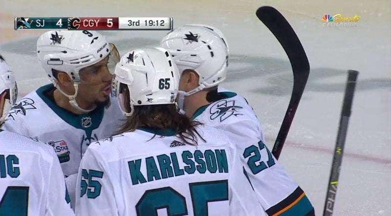 Video: Erik Karlsson jakeli huimalla tavalla - Joonas Donskoi siirsi limpun häkkiin