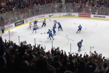 Video: Näitkö tämän? Ukko-Pekka Luukkonen heitti vastustajaa mailalla juhliessaan mestaruutta