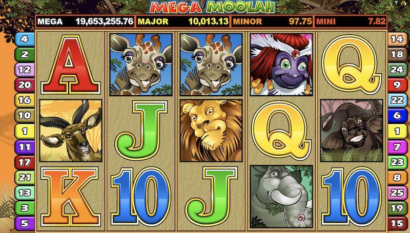 Mega Moolah -kolikkopelin päävoitto on noussut ME-lukemiin yli 20 miljoonaan euroon!