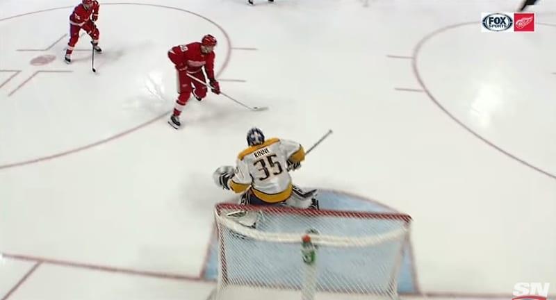 Video: MUURI! - Pekka Rinne torjui kolmella nollaa vastaan hyökkäyksen