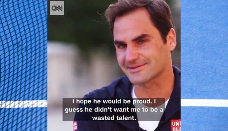 Video: Roger Federer antoi äärimmäisen liikuttavan haastattelun CNN:lle