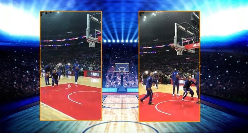 Video: Stephen Curryltä ilmiömäinen temppu ottelun alkulämmössä