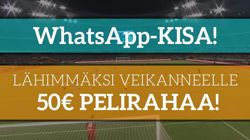 WhatsApp-kisa: Tilaa ilmaiseksi ja osallistu kisaan – palkintona 50€ pelirahaa!