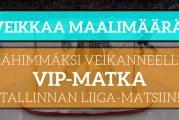 KISA! – Voita kahden hengen huikea VIP-matka Tallinnan Liiga-peliin