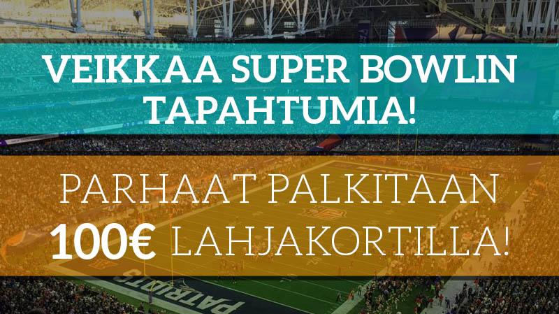 Super Bowl -veikkauskisa! – parhaat palkitaan 100€ lahjakortilla!