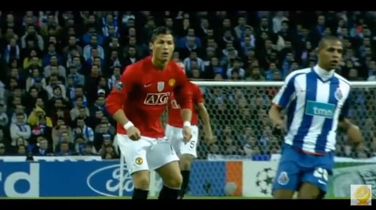 Klassikkovideo: Cristiano Ronaldo tykitti ManU-paidassa uskomattoman maalin 40 metristä